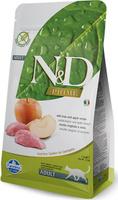 Корм сухой для взрослых кошек Farmina N&D, беззерновой, с кабаном и яблоком, 1,5 кг