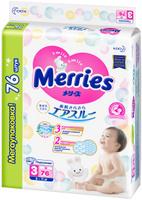 Подгузники Merries, для детей, размер М, 6-11 кг, 6202040351, 76 шт. Наши лучшие предложения