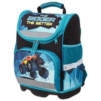 Ранец / рюкзак / портфель школьный для мальчика первоклассника Юнландия Wise для начальной школы, Monster-truck, 37х29х15 см