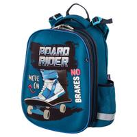 Ранец / рюкзак / портфель школьный для мальчика первоклассника Юнландия Extra, с дополнительным объемом, Skateboard, 38x29x18 см