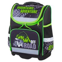 Ранец / рюкзак / портфель школьный для мальчика первоклассника Юнландия Wise Offroad черный