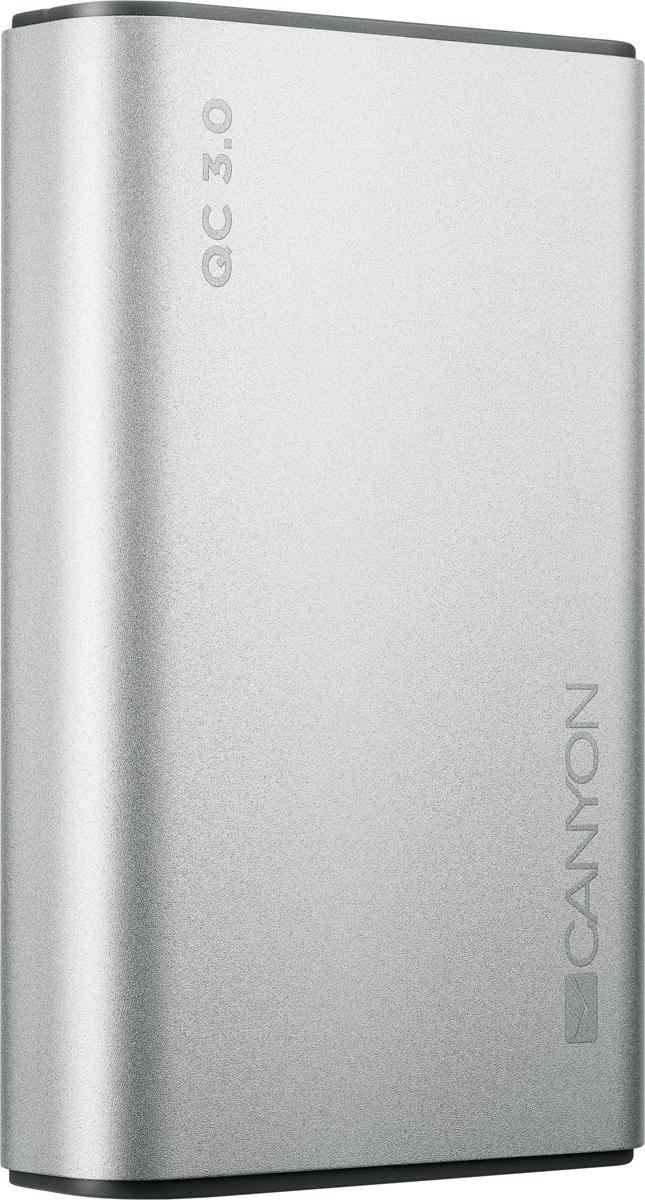 Фото - Внешний аккумулятор Canyon CND-TPBQC10S, 10000 мАч, серебристый аккумулятор