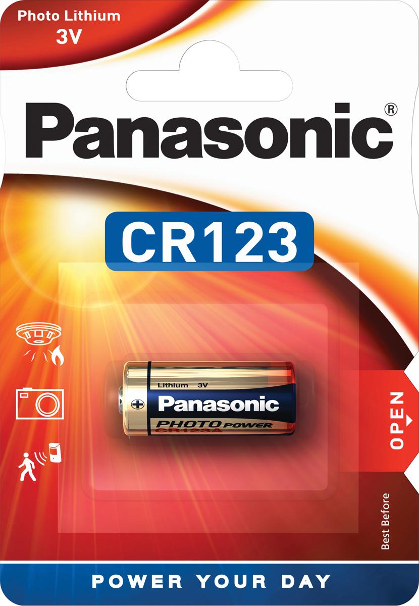 Батарейка Panasonic Lithium Power CR-123AL/1BP, цилиндрическая литиевая