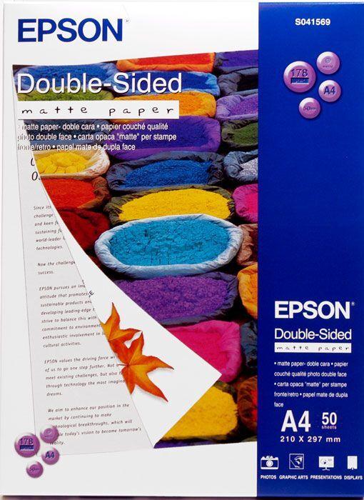 Фотобумага Epson, C13S041569, матовая, формат A4 (210 x 297 мм), 50 листов