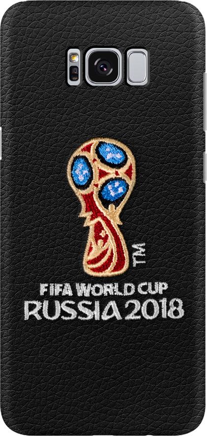 Чехол с вышивкой для Samsung Galaxy S8+, FIFA Embroidery Offcial Emblem, Deppa чехол fifa 2018 official emblem white для samsung a5