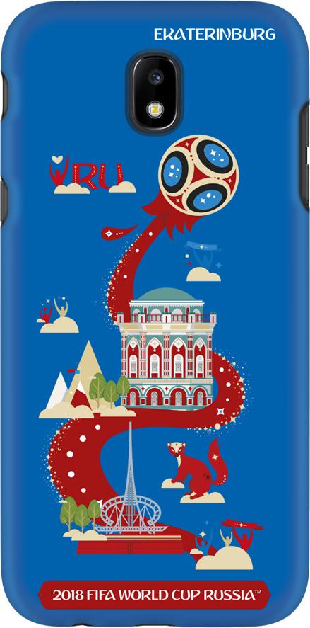 Фото - Чехол TPU для Samsung Galaxy J5(2017), FIFA Ekaterinburg, Deppa чехол perfeo для samsung j5 2017 tpu зеленый pf 5311