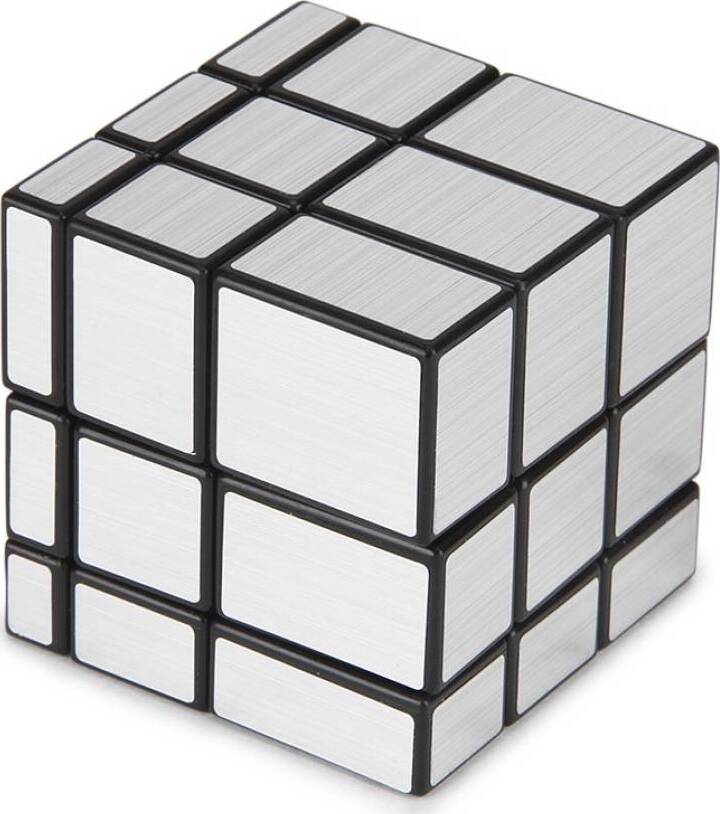 Головоломка Зеркальный Кубик YJ Mirror Cube серебряный