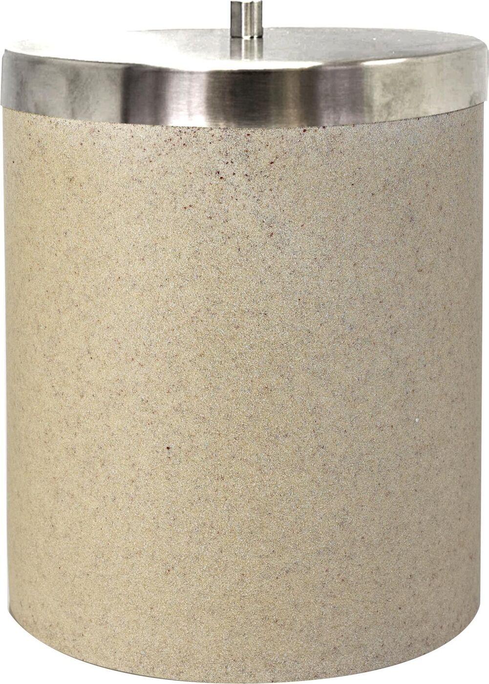 Ведро мусорное Ridder Stone, цвет: бежевый, 5 л стакан для ванной комнаты ridder stone цвет бежевый