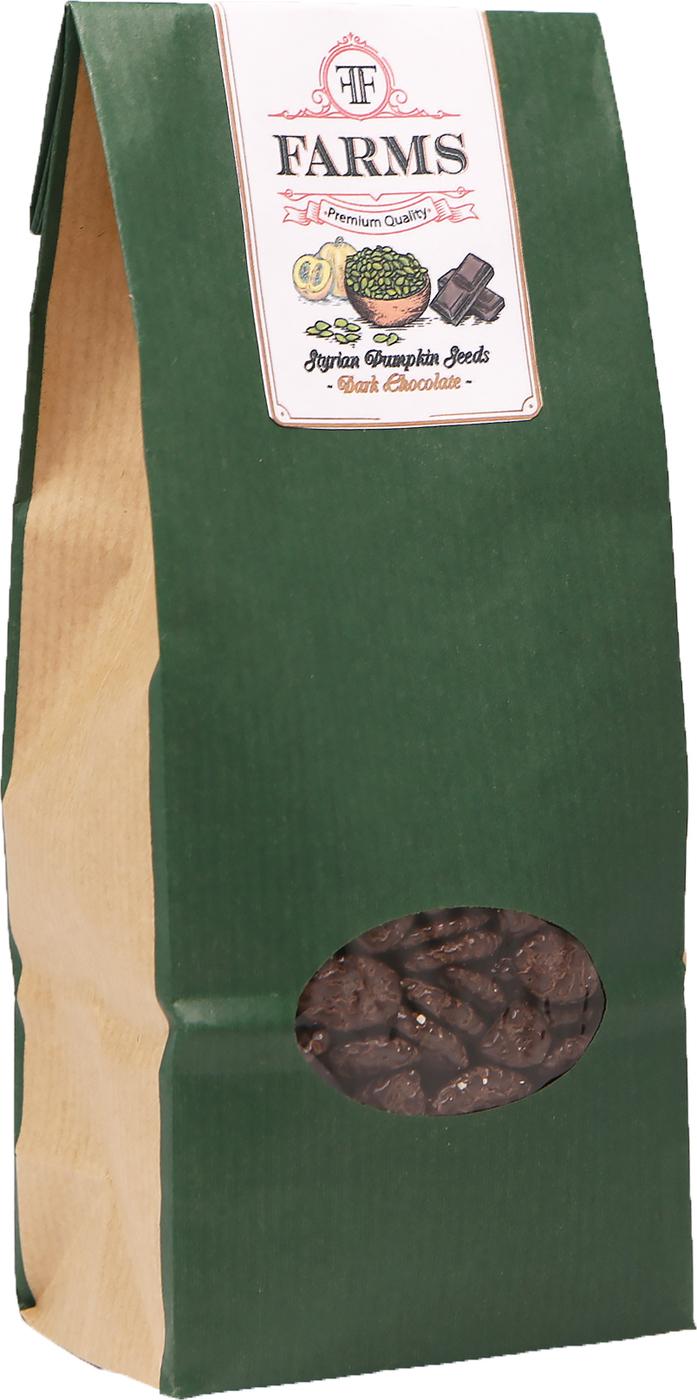 Штирийские тыквенные семечки в глазури черный шоколад Kurbis kerne, 300 гр