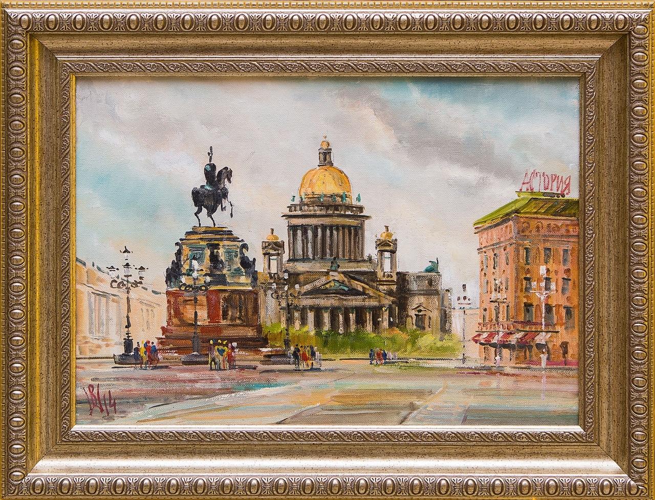Картина маслом Исаакиевский собор Шеренкова картина маслом шумный город шеренкова