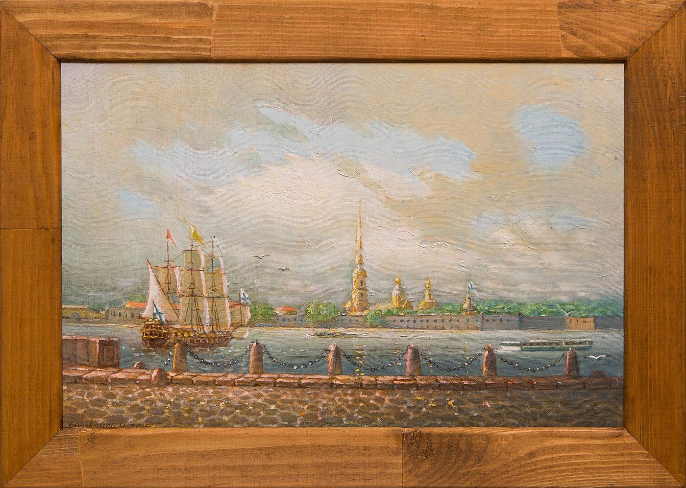 Картина маслом Петропавловка Якубалиев картина маслом петропавловка клеверов