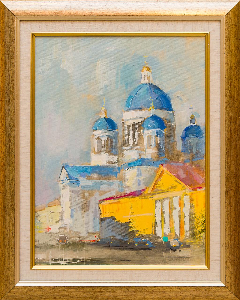 Картина маслом Троицкий собор Сухоплюев картина маслом исаакиевский собор с крыши сухоплюев