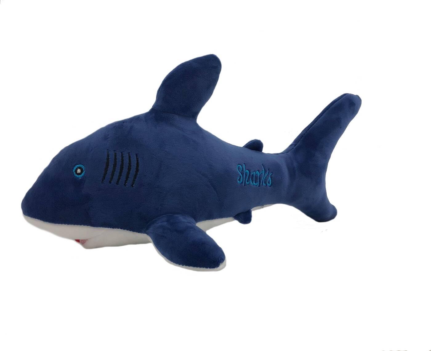АБВГДЕЙКА Мягкая игрушка Акула Шарка, 38 см, синяя