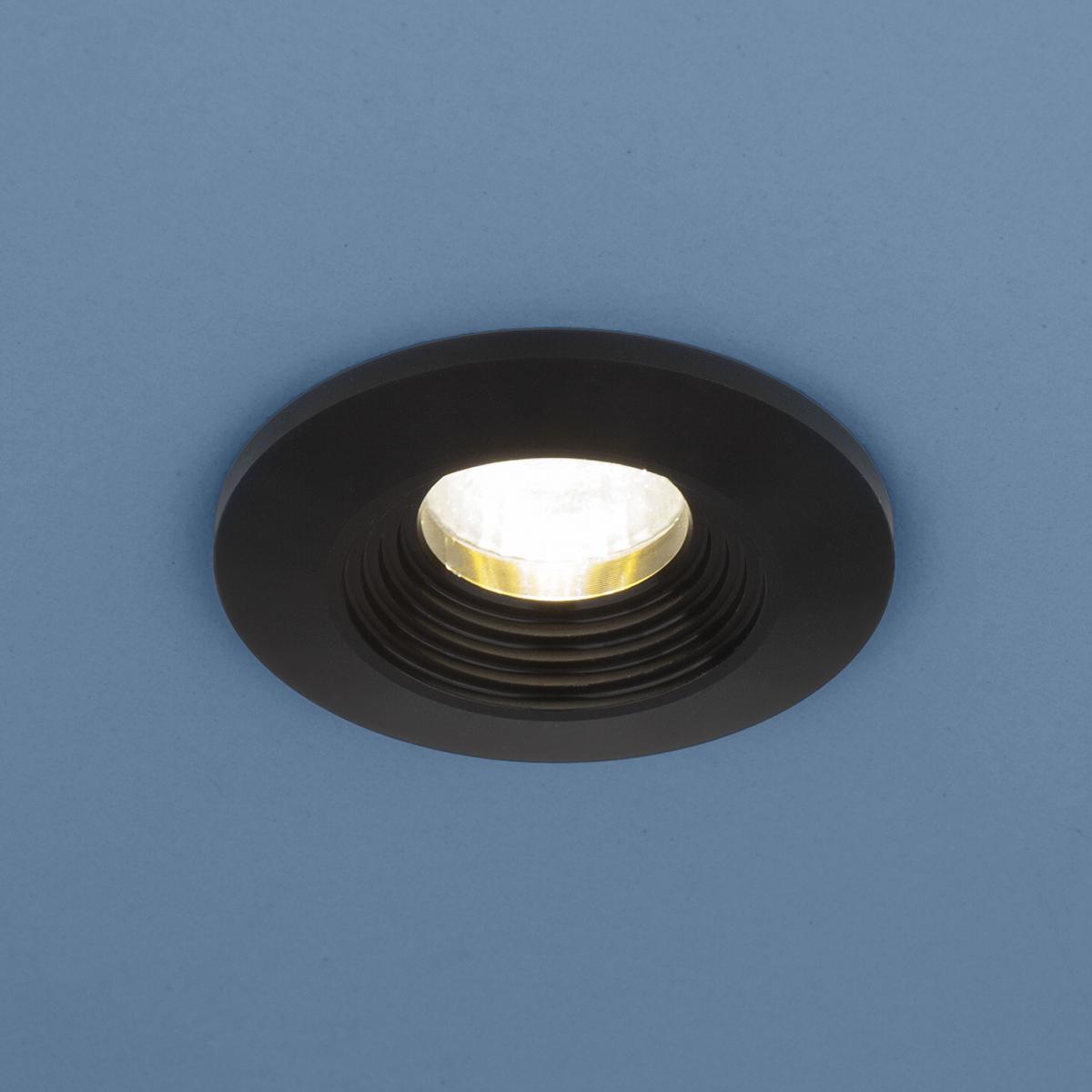 Встраиваемый светильник Elektrostandard Точечный светодиодный 9903 LED 3W COB BK jrled 3w 300lm 6500k 21 cob led white light modules white beige 5 pcs dc 10 11v