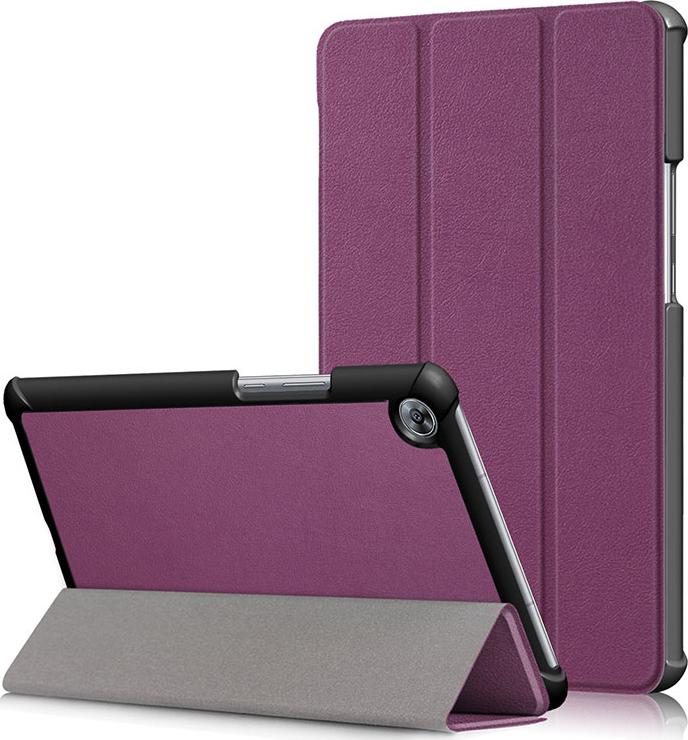 Чехол-обложка MyPads для Asus ZenPad C 7.0 Z170C тонкий умный кожаный на пластиковой основе с трансформацией в подставку фиолетовый