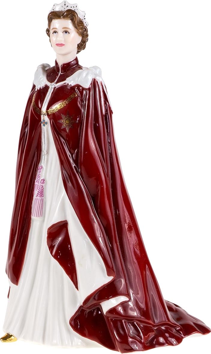 Статуэтка Королева Елизавета. Фарфор, роспись, золочение, ручная работа. Высота 23 см. Royal Worcester, Великобритания, 2006 год.