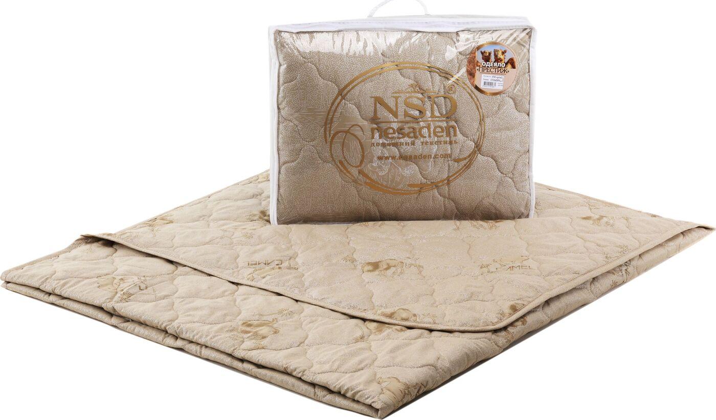 Одеяло Престиж - верблюд глоссатин, облегченное, чемодан, ЕВРО