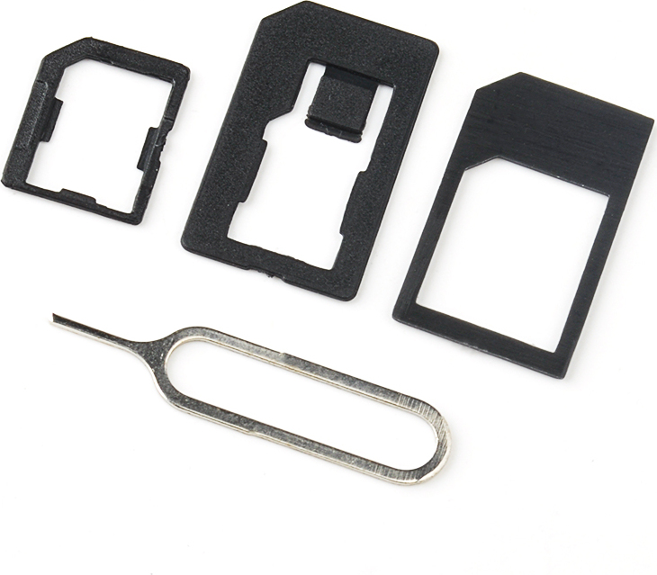 Адаптер сим-карт Nuobi, 3 в 1, с устройством для извлечения, Черный