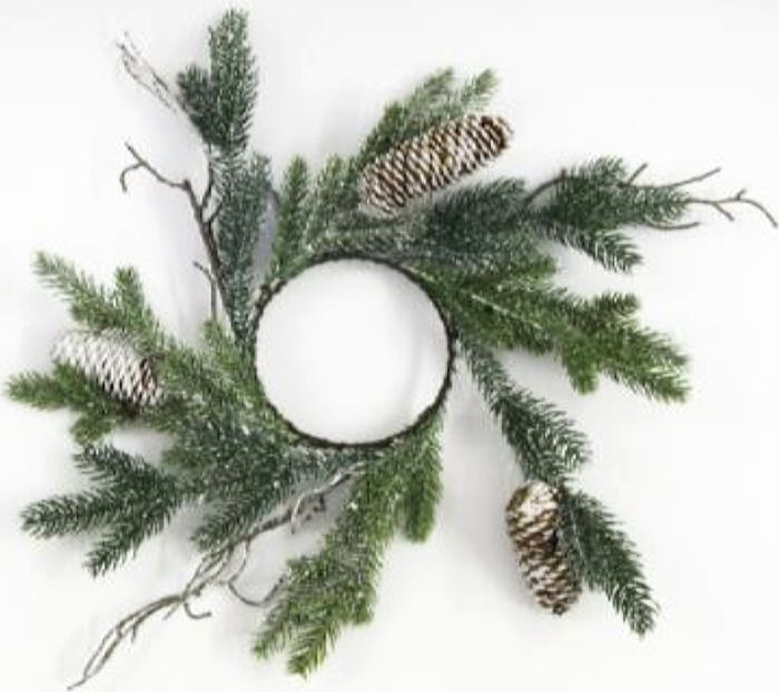 Венок новогодний, DN-53368, зеленый, диаметр 30 см