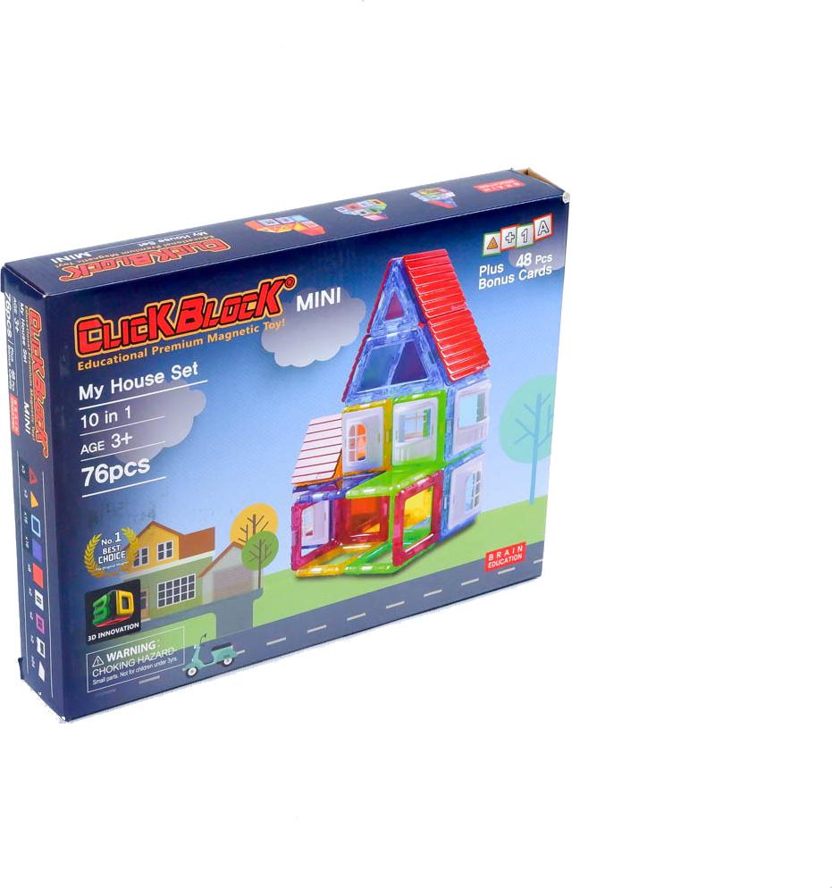 Магнитный конструктор MagKinder 2D Mini  My House, 76 деталей