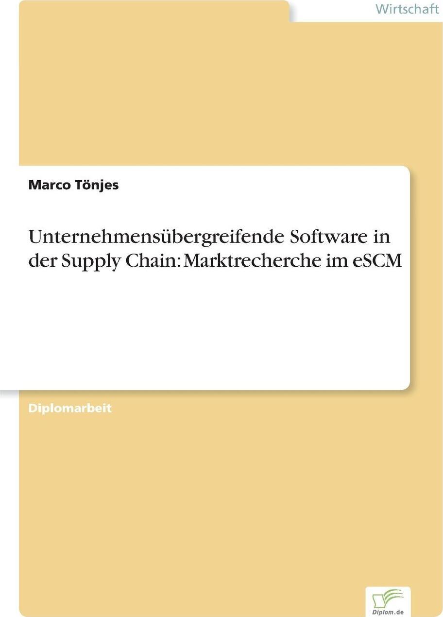 Unternehmensubergreifende Software in der Supply Chain. Marktrecherche im eSCM