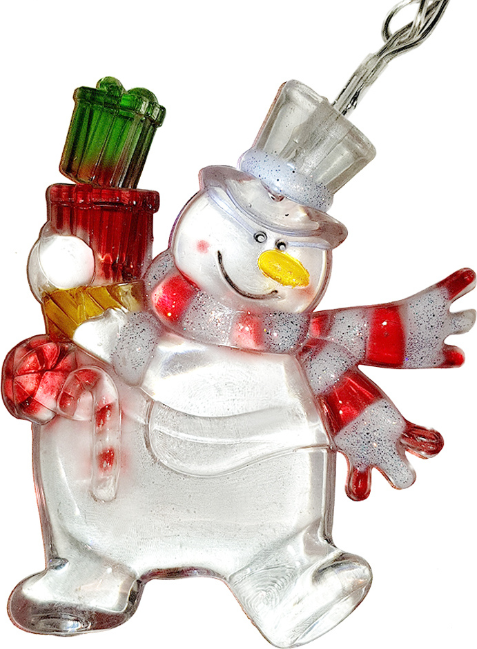 "Гирлянда SH Lights ""Снеговик"" LD020W-PS/SN,  4,75 м, цвет: белый"