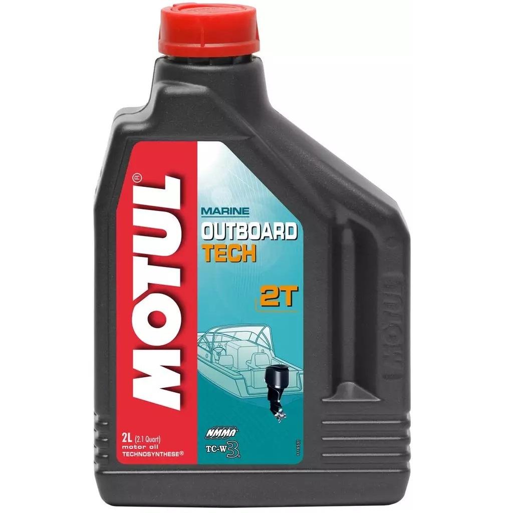 Масло моторное полусинтетическое Motul Outboard Tech 2T 2 л (101726)