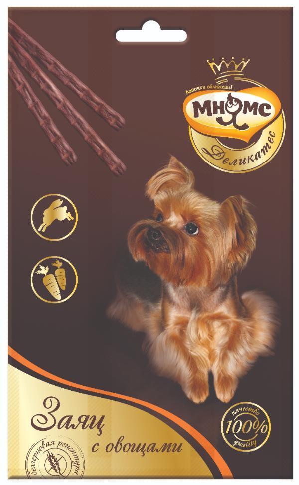Лакомство для собак Мнямс Деликатес лакомые палочки с мясом дикого кабана и лесными ягодами, 13,5 см, 33 гр