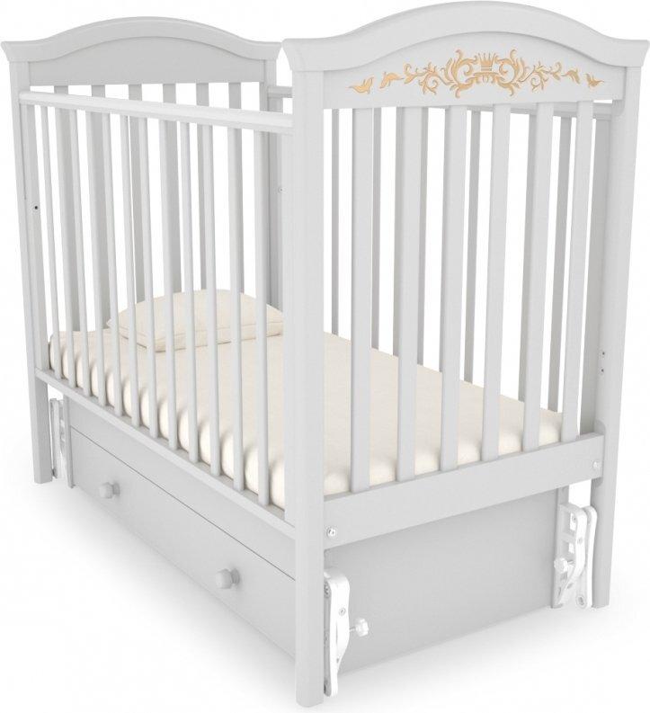 Кровать  детская Гандылян Даниэль Люкс маятник универсальный (белая ночь)