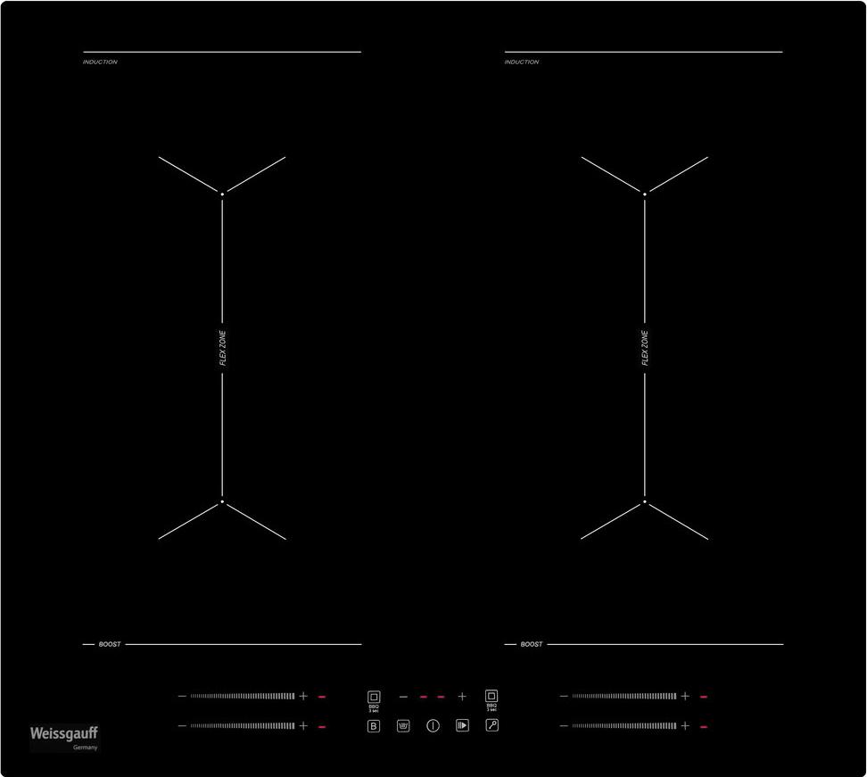 Варочная панель Weissgauff HI 642 BY, черный