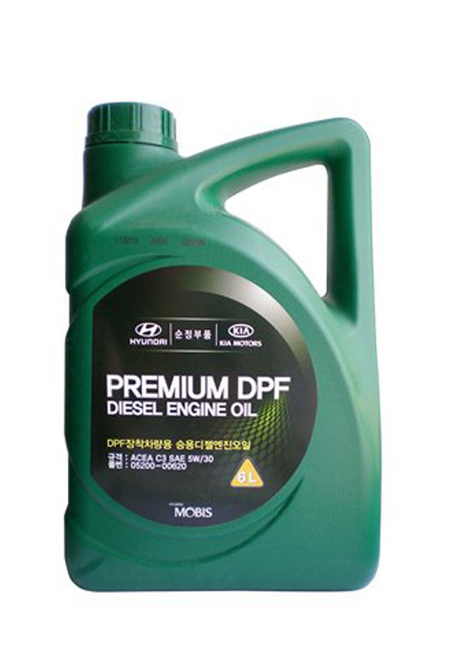 Моторное масло HYUNDAI Premium DPF Diesel Engine Oil SAE 5W-30 C3 (6л)