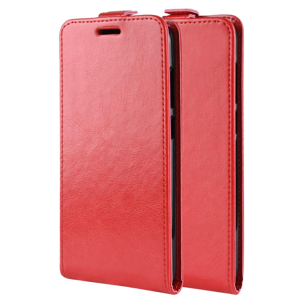 Чехол вертикальная книжка на силиконовой основе с отсеком для карт на магнитной защелке для Huawei P Smart Z/Huawei Honor 9X Красный