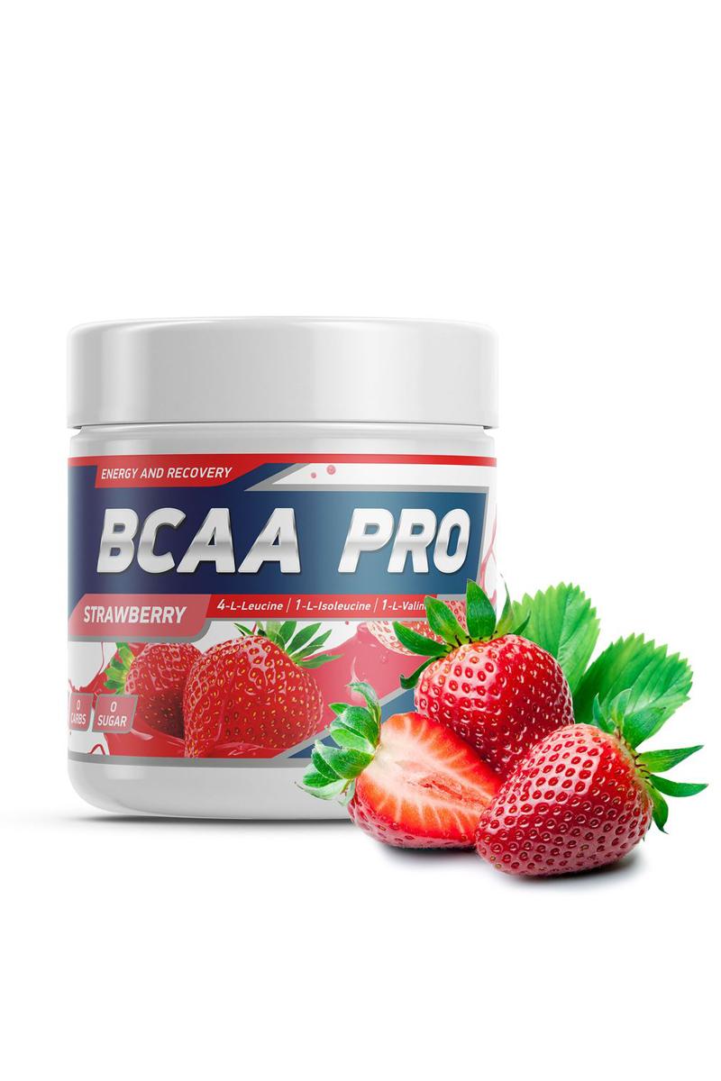 Geneticlab Nutrition BCAA PRO powder 250 г/20servStrawberry (Клубника) /Аминокислота ДС