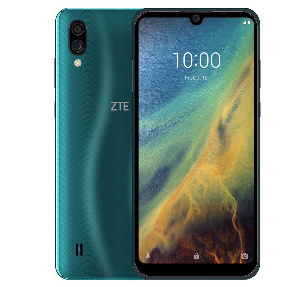 смартфон zte blade a5 (2020) 2/32gb, зеленый