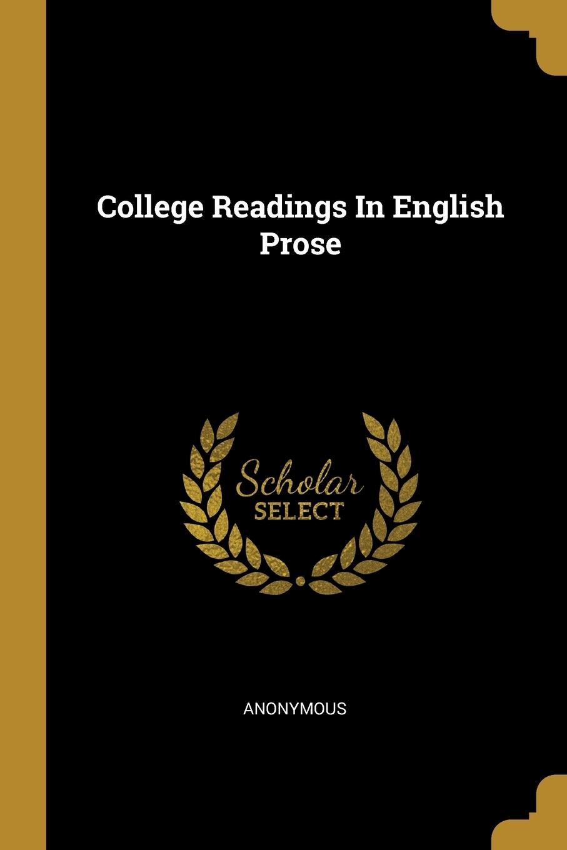 M. l'abbé Trochon. College Readings In English Prose