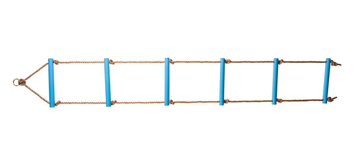 Лестница веревочная 6 ступеней синяя
