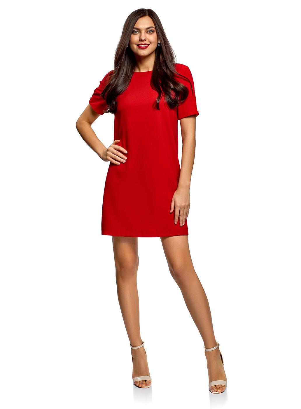Прямые Красные Платья Фото