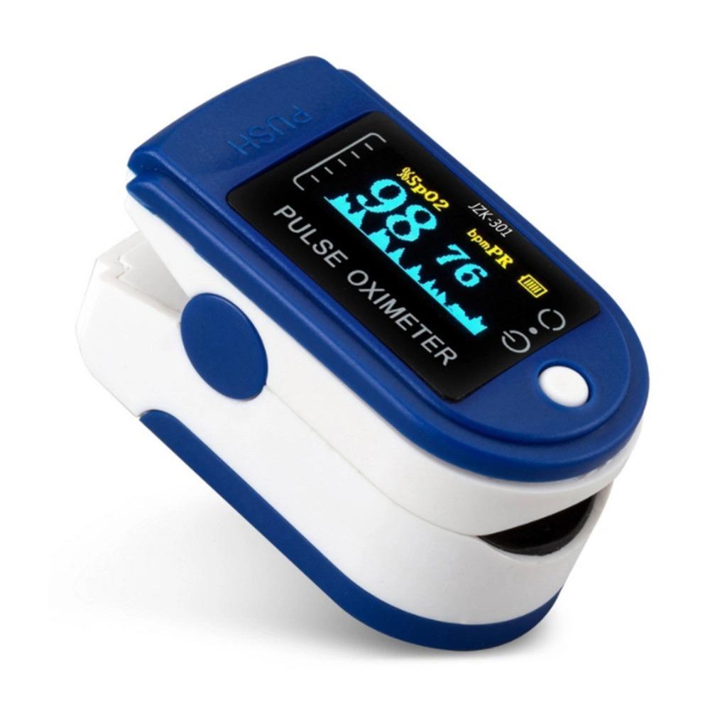 Пульсоксиметр медицинский (оксиметр) пульсометр на палец для измерения кислорода в крови (батарейки в комплекте)