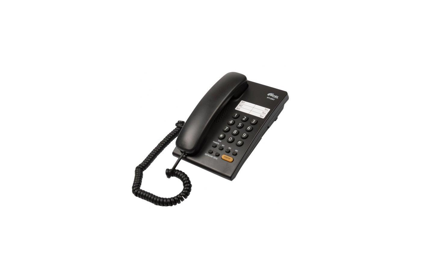 телефон ritmix rt-330, чёрный