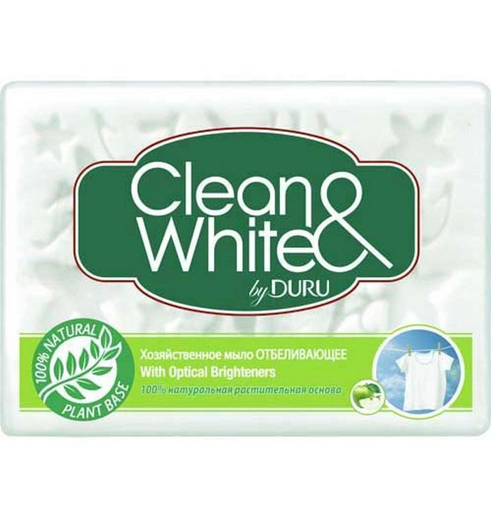 Мыло хозяйственное Duru Clean&White отбеливающее, 4х125 г