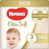 Huggies Подгузники Elite Soft 5-9 кг (размер 3) 160 шт - изображение