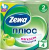 Туалетная бумага Zewa Плюс Яблоко, 2 слоя, 4 рулона - изображение