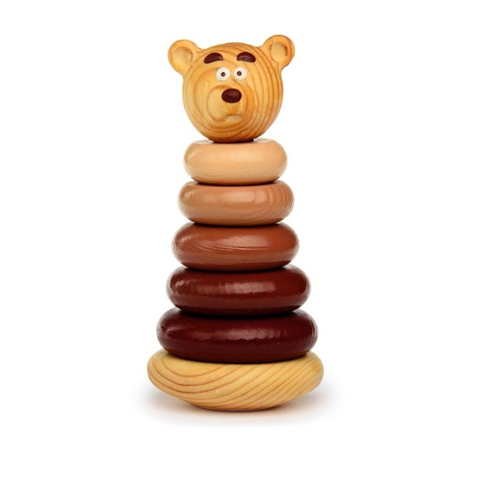 """Пирамидка """"Медвежонок"""" Развивающие игрушки #1"""