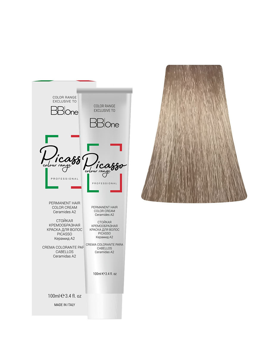 BB One, 10.32 Перманентная крем-краска для волос Picasso, платиновый бежевый блонд  #1