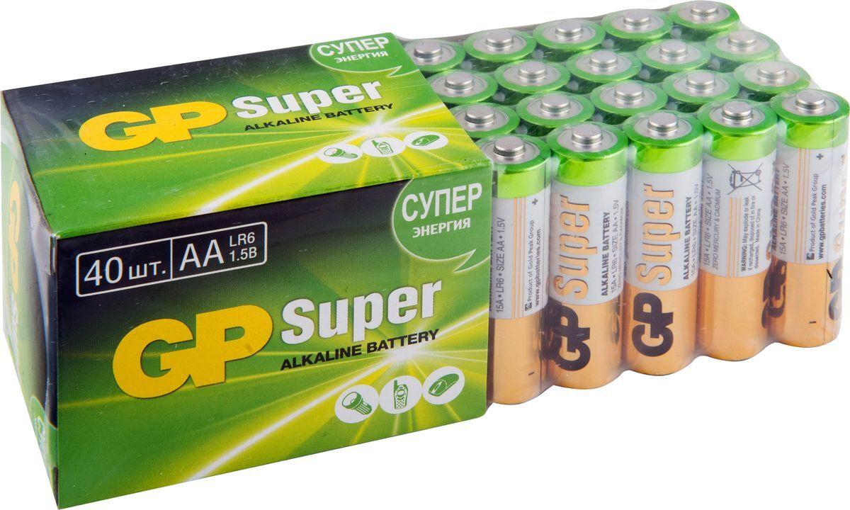 Батарейки GP Super Alkaline, (набор) АА (LR6), упаковка 40 шт #1