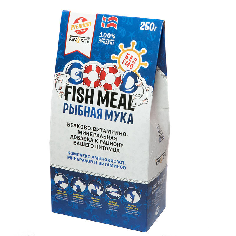 Рыбная мука белково-витаминно-минеральная добавка к рациону вашего питомца,250г  #1