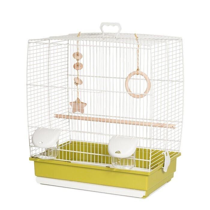 Клетка для птиц VOLTREGA (641), белый/зеленый, 39х25.5.х45см #1