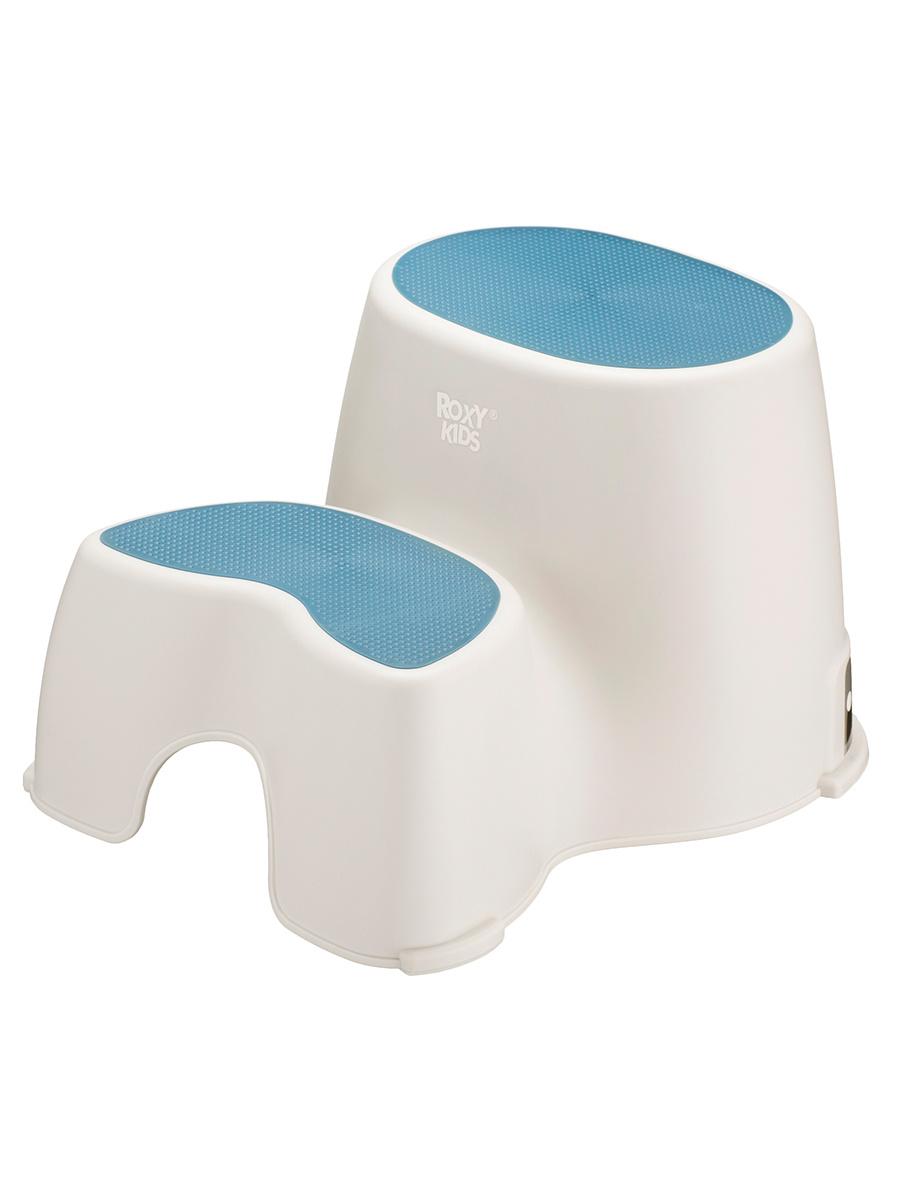 Ступенька детская двойная для унитаза и кровати, табурет для ребенка ROXY-KIDS, цвет синий  #1