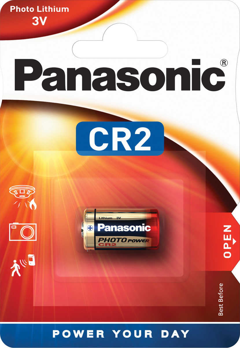 Батарейка Panasonic Lithium Power CR-2L/1BP, цилиндрическая литиевая