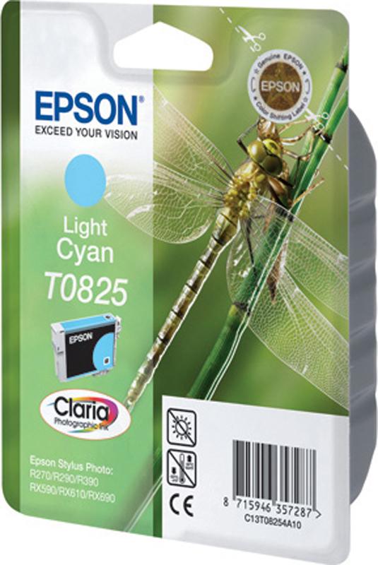 Картридж Epson для Stylus Photo R270/R290/RX590, C13T11254A10 , светло-голубой